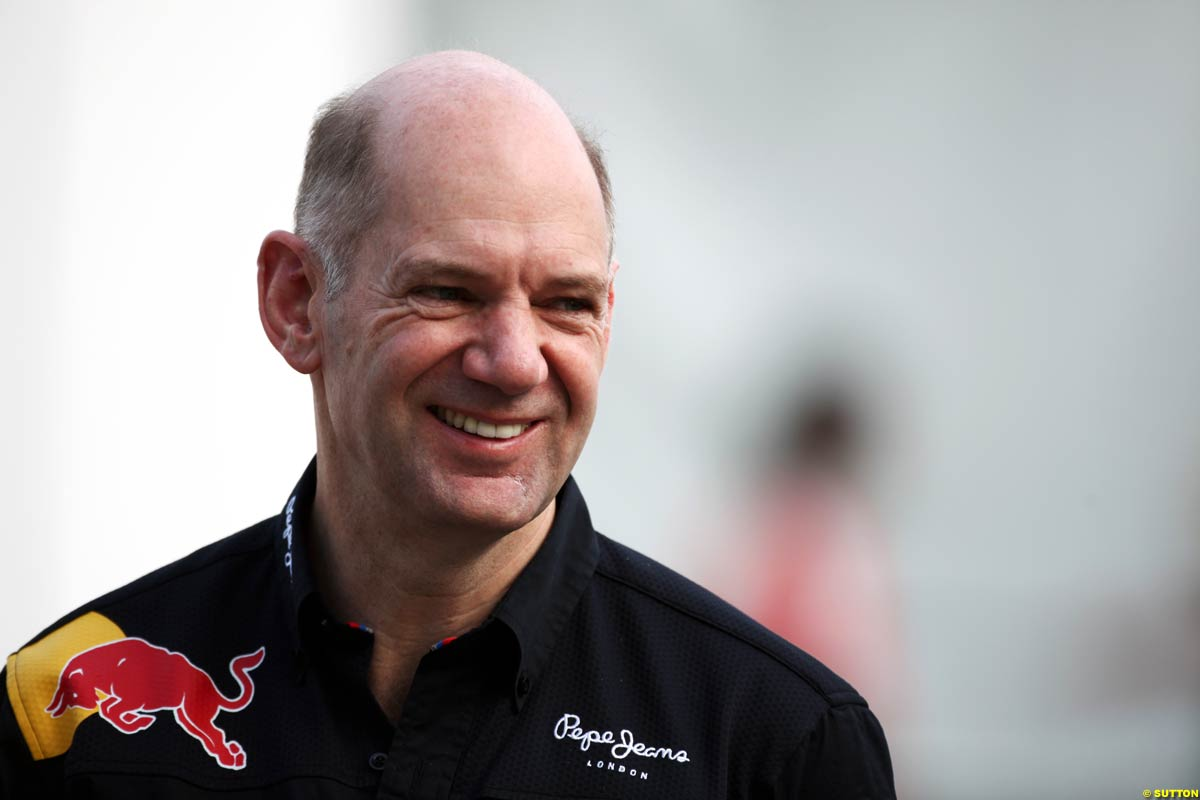 The 58-year old son of father (?) and mother(?), 178 cm tall Adrian Newey in 2017 photo